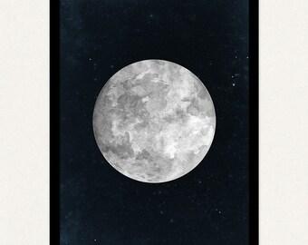 18x24 Blue Moon - Printable Art