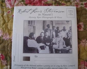 RARE Stevenson Hawai'i Robert Louis Stevenson cd Hawaii history photos music