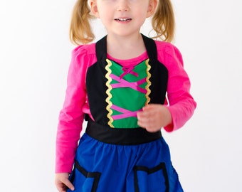 kids  ANNA  apron Anna dress up   apron for  full apron for dress up or baking  girls Anna apron