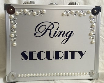 Pearl with Rhinestone Wedding Ring Security Briefcase