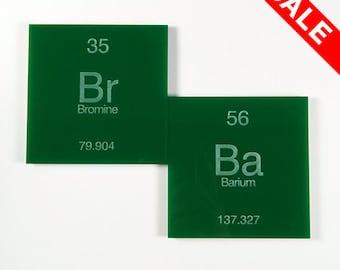 Bromine Barium (Breaking Bad inspired) Coasters