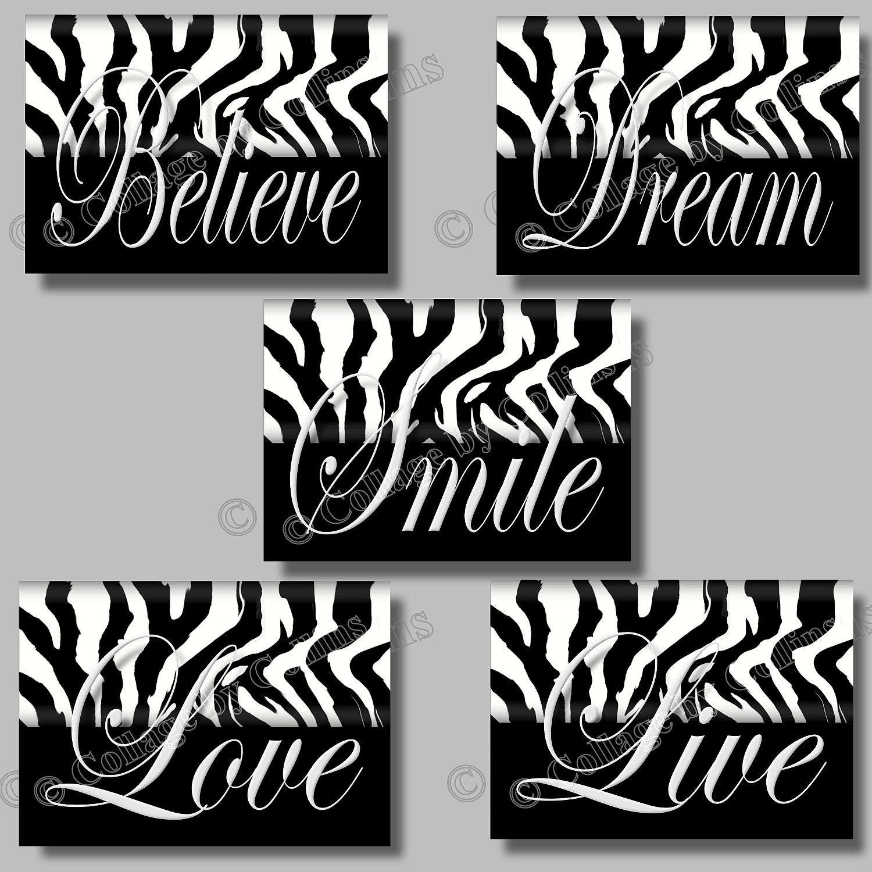 Good Zebra Print Wall Decor