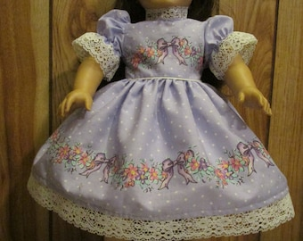 """Lavender and  Lace Dressy  Doll Dress for 18 """" Doll"""