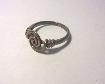 Sterling Silver Swirl Ring Size 6
