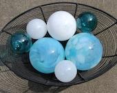 White & Blue Cloud Floats...