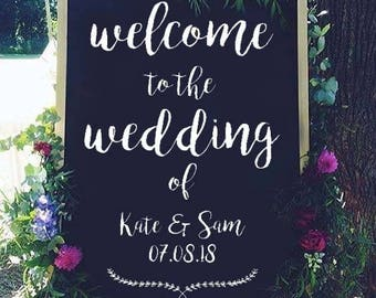 Wedding Welcome Sign - Digital file - Personalised Welcome message