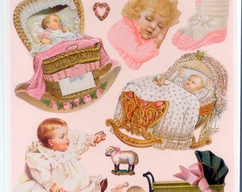 Victorian Baby Diecut Images - Collage, Scrapbooking, Decoupage