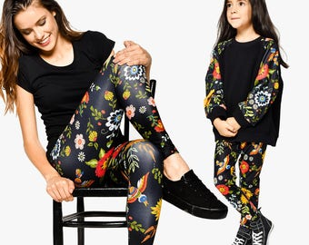 Mommy And Me Outfit, Mothers Day Gift, Sport Leggings, Mom And Me Matching Set, Mother Daughter Set, Girl Leggings, Women Gift, Mother Gift