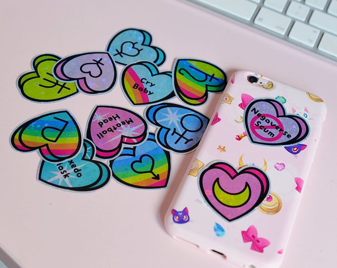 Sailor Moon Heart Sticker Pack