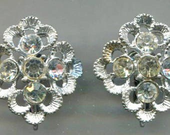 SARAH COVENTRY Rhinestone Clip-Back Earrings