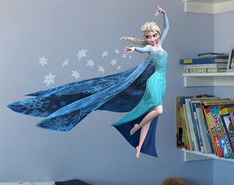 Frozen Elsa Removable Vinyl Wall Decal Stickers Kids Room Home Decor