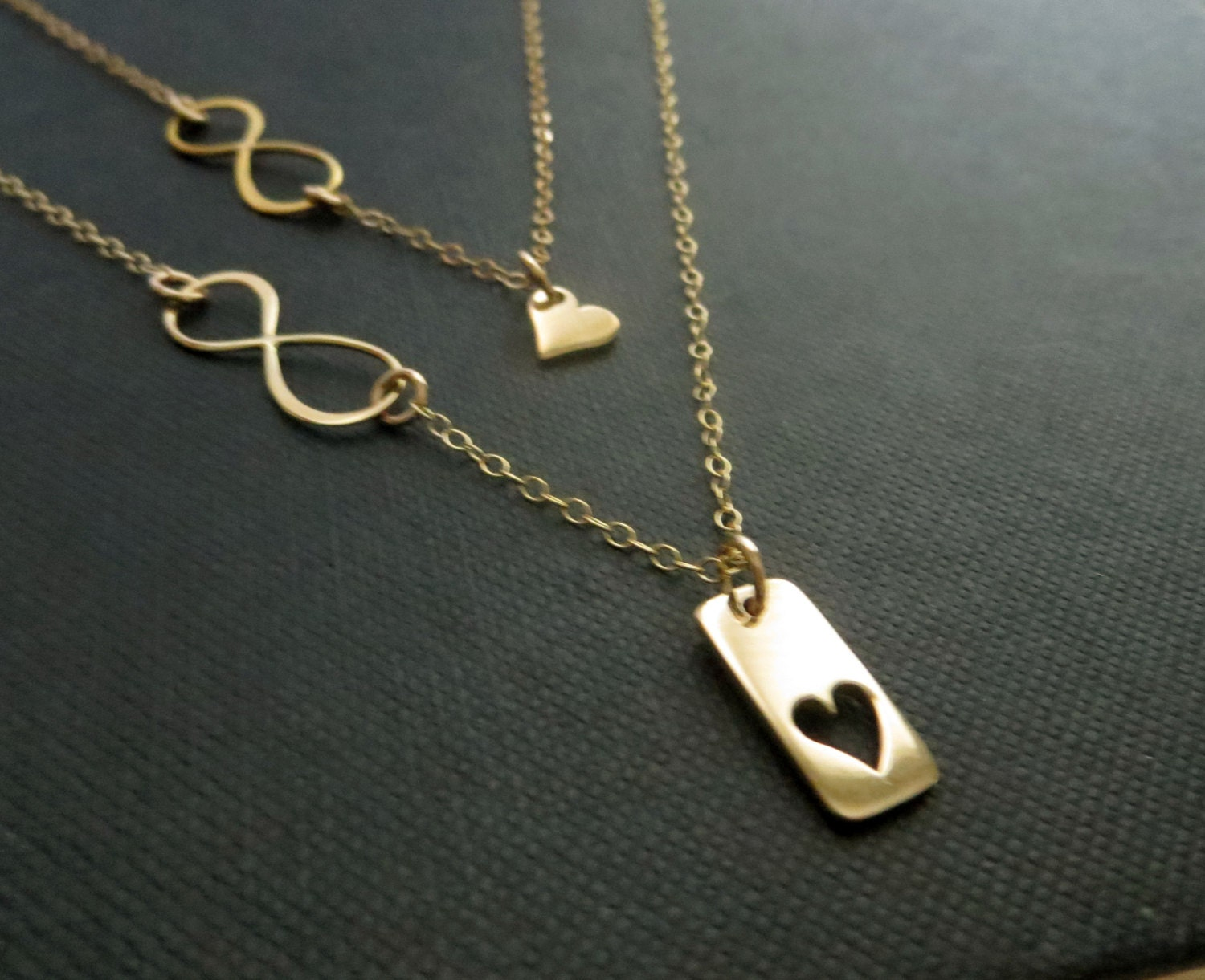 heart listing necklace mom gift of set infinity il daughter jewelry for mother fullxfull