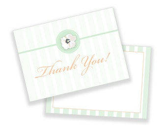Floral Thank You Note - Customizable Template. Marketing Guides. Instant Download.