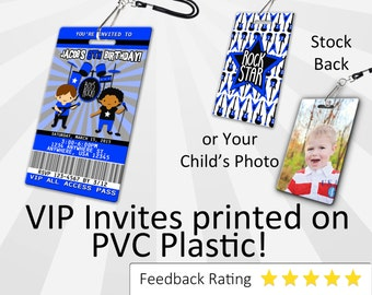 Rockstar Boy Invitation PLASTIC Rockstar Boy, Rockstar Boy Invitation, Birthday Invitation, Birthday Invite Rockstar Boy Birthday SKU-INV225