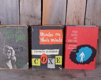 Vintage Mid Century Mystery Suspense Pulp Novel Lot George Harmon Coxe William Pearson