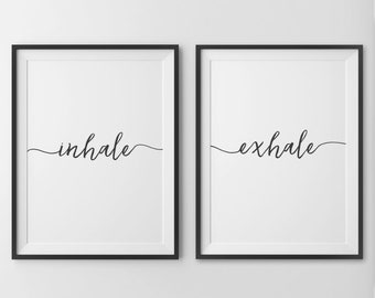 Inhale Exhale, Inhale Exhale Print, Pilates Quote, Yoga Print, Inhale Exhale Poster, Fitness Print, Pilates Print, Pilates Art, Trending