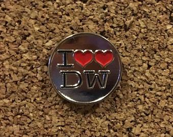 I Heart Heart Doctor Who Enamel Pin
