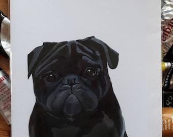Hector Pug Art Card
