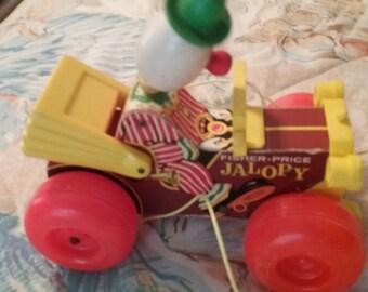 JALOPY Fisher Price 1965-78 #724 Vintage Jolly JALOPY