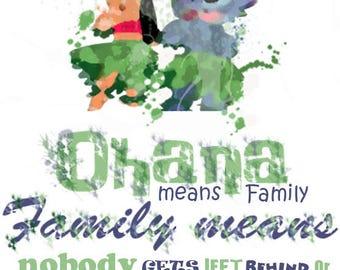 Ohana A4 Print