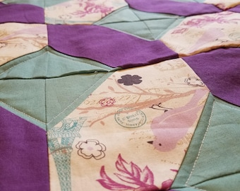 Purple and Teal Baby Quilt
