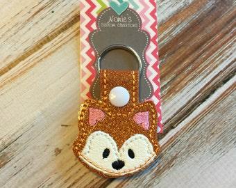 Fox Keychain - Fox Key Chain - Forest Animal Keychain - Fox Gift - Fox Feltie