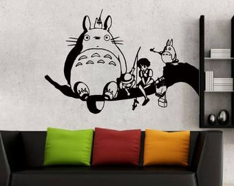 Totoro And Friends Wall Decal For Nursery Room Wall Art Childrenu0027s Sticker  Art Anime My Neighbor Totoro Kidu0027s Room Decal Vinyl Art
