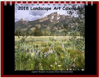 2018 Landscape Art Calendar