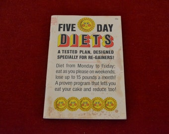 """Vintage 1967 Dell Purse Book """"Five Day Diets"""""""
