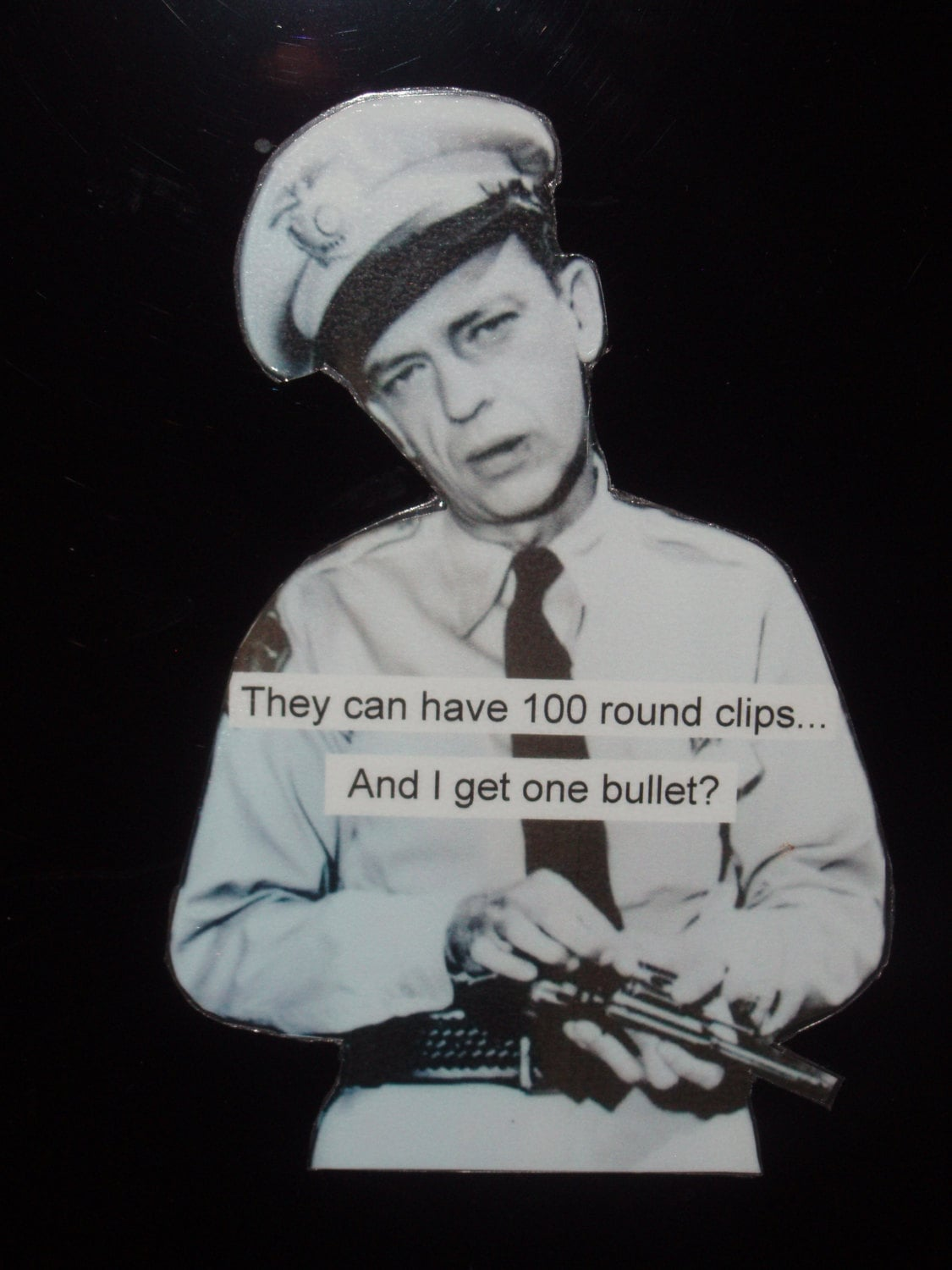 Barney Fife Quotes Magnet Barney Fife Gets One Bullet Funny Gun Truth
