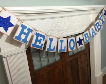 Baby Banner, Hello Baby Banner, Baby Shower sign, Baby Photo Prop