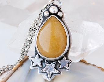 Taurus Jade OOAK Necklace in Sterling Silver