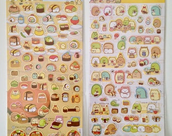 Sumikko Gurashi sushi party stickers cute kawaii polar bear cat penguin cutlet tapioca weed