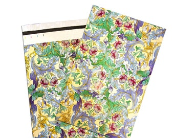 """10x13"""" Flowered Paisley Flat POLY MAILERS, Self Sealing Flat Envelope Mailers, Business Envelopes, Mailer Bags (20Pack)"""