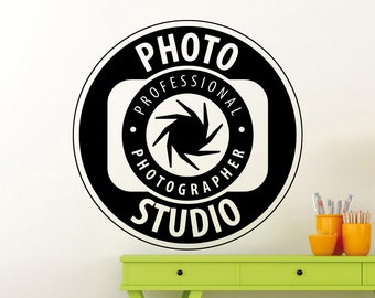 Photo Studio Logo Wall Sticker Professional Photographer Vinyl Decal Home Room Interior Decoration Waterproof High Quality Mural (371xx)