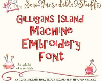 Gilligan's Island Machine Embrodery font