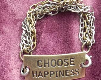 CHOOSE HAPPINESS bracelet