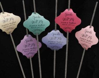 Custom Wedding Sparklers Tag - 72 Tags Per Order