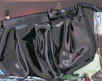 Very cute patent leather clutch