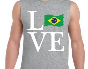 Love Brazil  Men Ultra Cotton Sleeveless T-Shirt