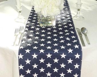 Choose your Table Runner, Navy Blue Stars Table Runner, Custom Made Table Linen, Modern Home Decor, Table Top Linens