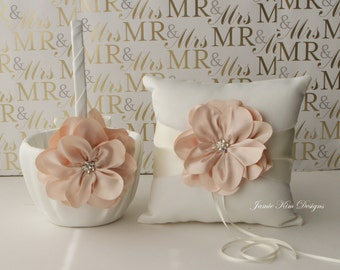 Ring Bearer Pillow and Flower Girl Basket Set - (Custom Made)