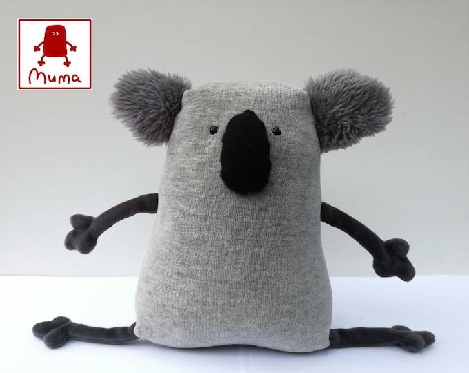 Muma Koala Plushie, Little Pocket Koala Stuffie Toy, Funny Marsupial Pocket Plush