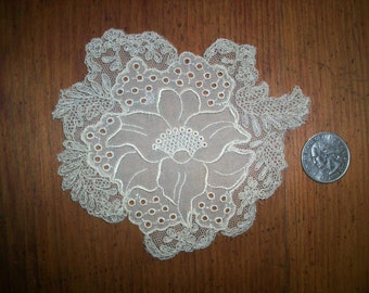 silk 1920s antique lace applique