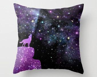 Wolf Nebula Pillow Case Galaxy Pillow Case Nebula Pink Pillow Space Pillow Throw Pillow Blue Galaxy Throw Pillow Space Throw Pillow