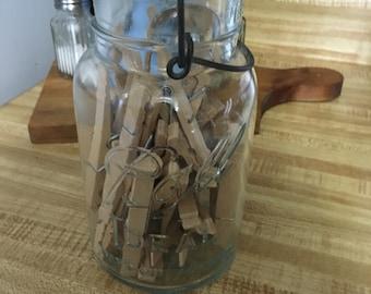 Set of 10 Vintage Clothespins