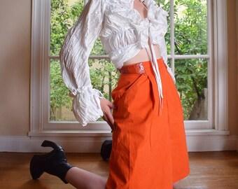Christian Dior Emergency Orange Pleated Skirt