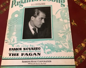 Pagan Love Song Sheet Music 1929