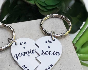 My Favorite Murder Murderino SSDGM Georgia Karen Besties Best Friends Keychain or Necklaces