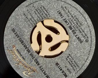 Vinyl Record Adapter Gold Lapel Pin Enamel Pin